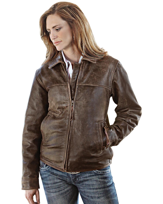 Sts Ranchwear Women S Rifleman Brown Leather Jacket Sheplers