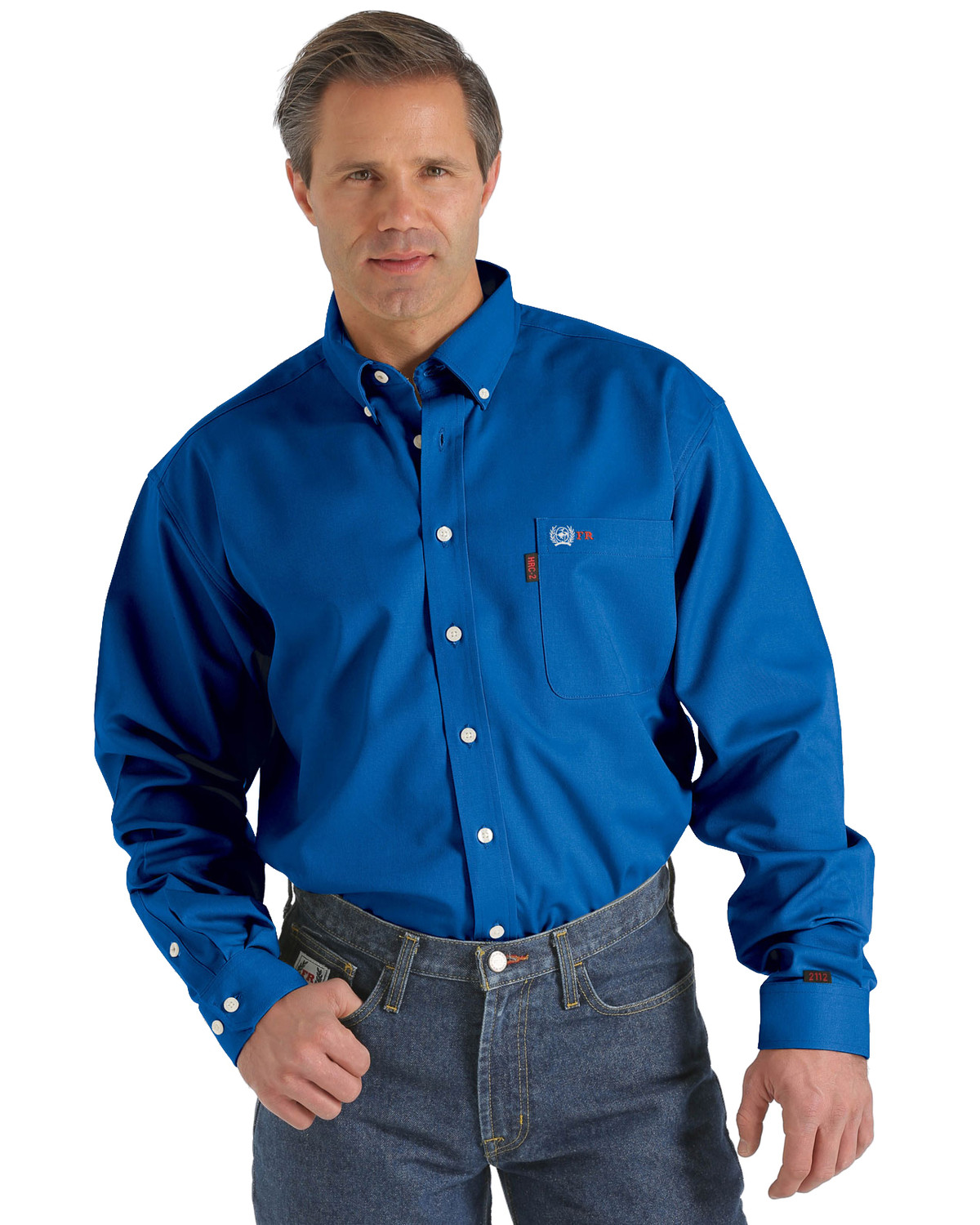 Cinch wrx flame resistant solid royal blue shirt sheplers for Cinch flame resistant shirts