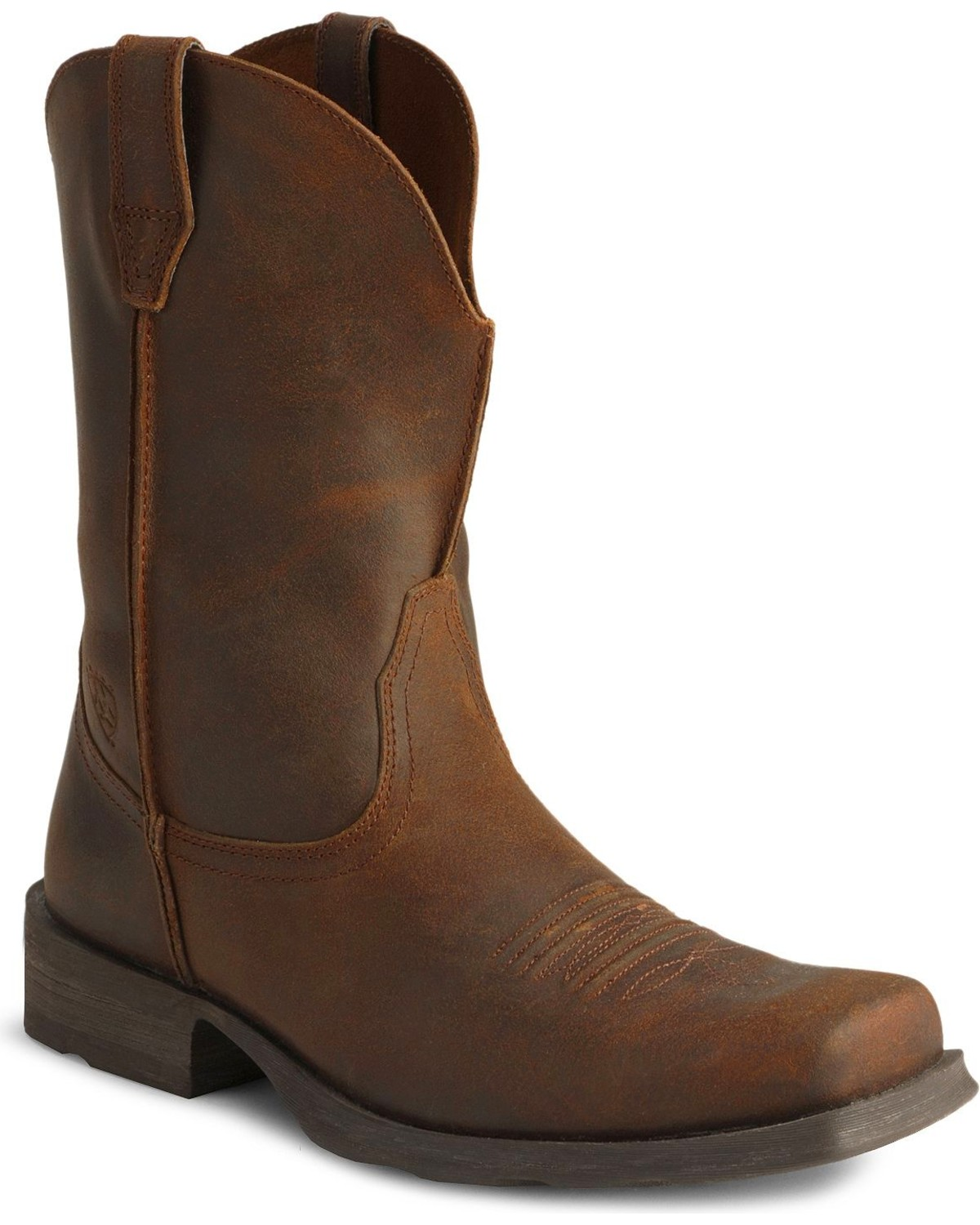 Ariat Distressed Rambler Cowboy Boots - Square Toe | Sheplers