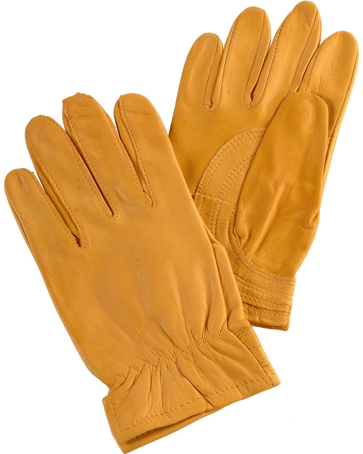 Justin leather work gloves - Justin Womens Tan Goatskin Gloves Tan Hi Res