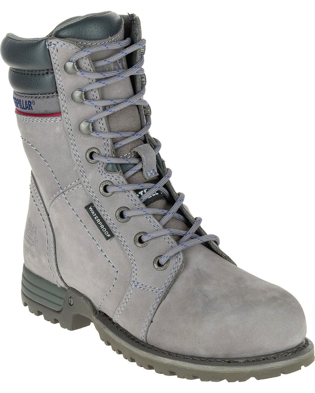 Caterpillar Womenu0026#39;s Grey Echo Waterproof Work Boots - Steel Toe | Sheplers