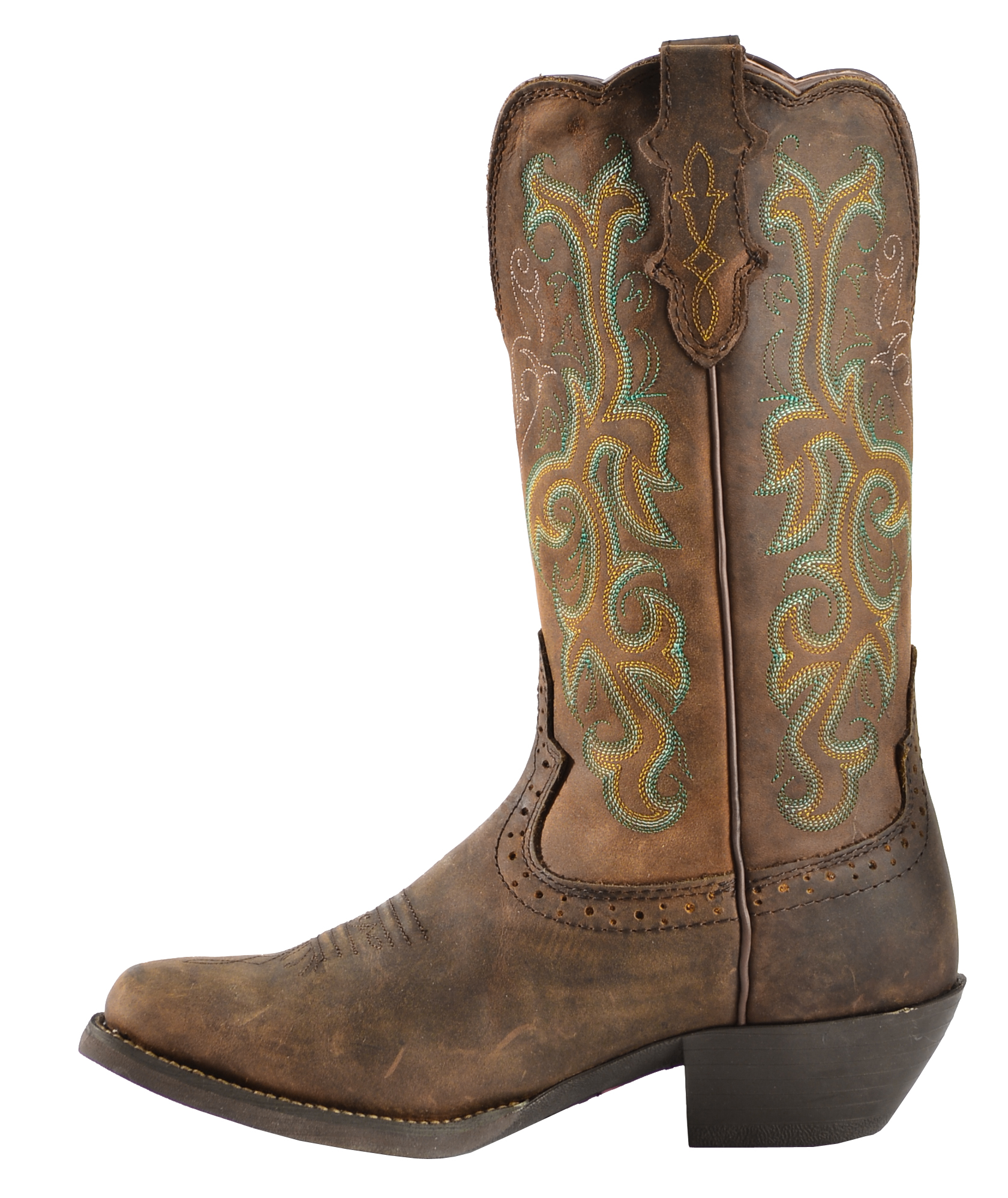 Justin Stampede Western Cowgirl Boots with Rubber Sole - Square ...