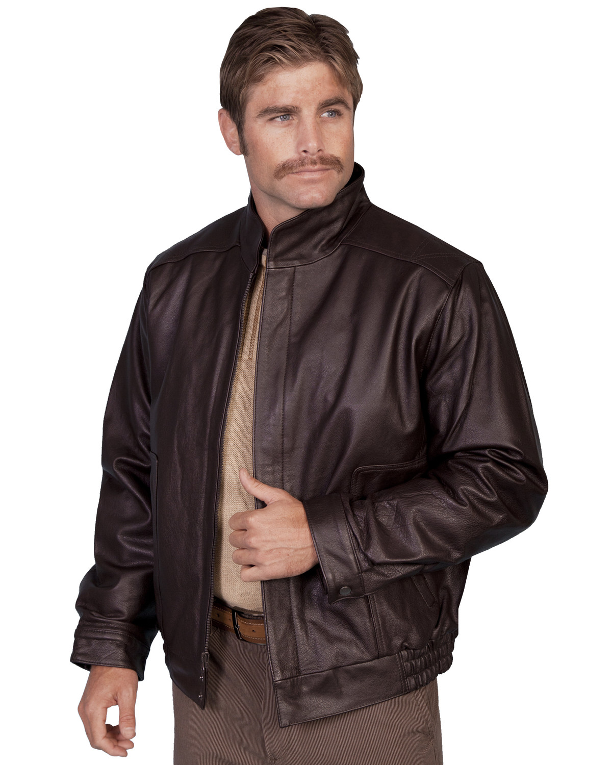 Leather jacket cost - Scully Top Grain Calfskin Leather Jacket Brown Hi Res
