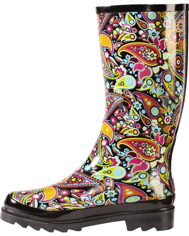 Paisley Rain Boots Yu Boots