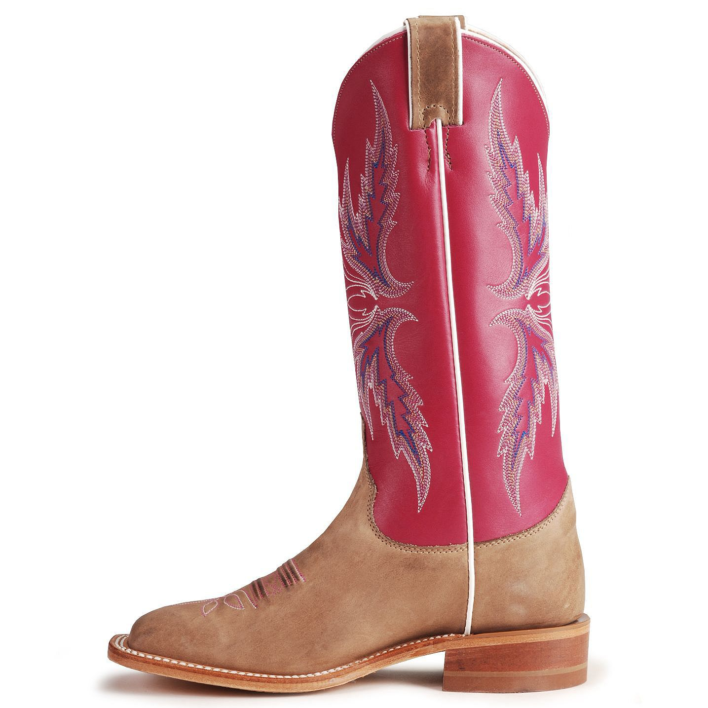 Justin Bent Rail Hot Pink Cowgirl Boots - Square Toe | Sheplers