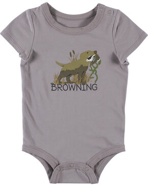 Browning Infant Boys' Grey Chipmuck Onesie , Grey, hi-res