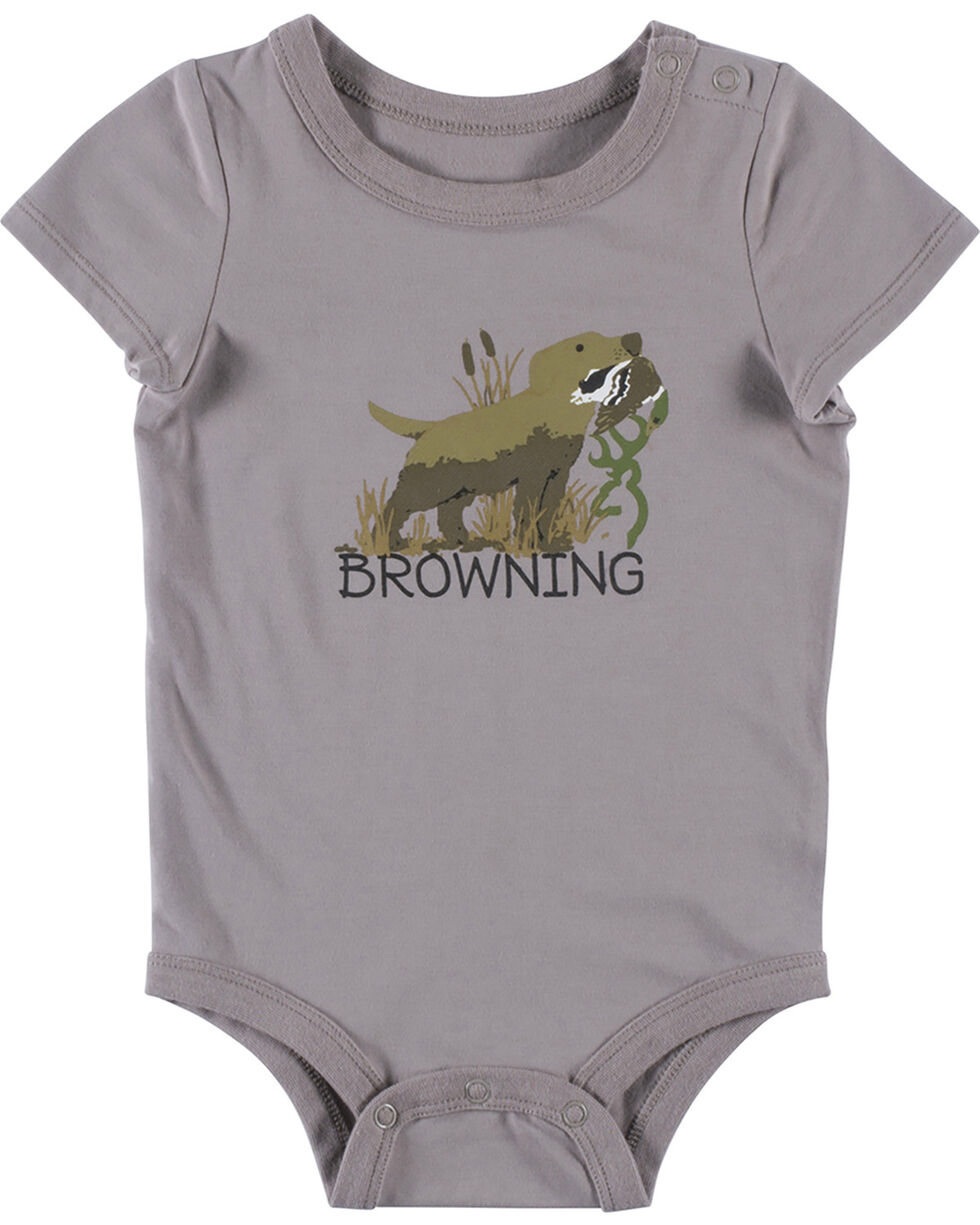 Browning Infant Boys' Grey Chipmuck Onesie , Grey, hi-res