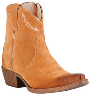 Ariat Driftwood Brown Marilyn Short Cowgirl Boots - Snip Toe , Brown, hi-res