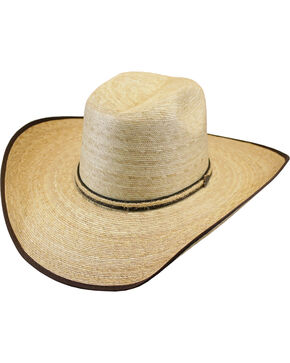 Justin Men's Tan Leverton Mexican Palm Straw Hat , Tan, hi-res