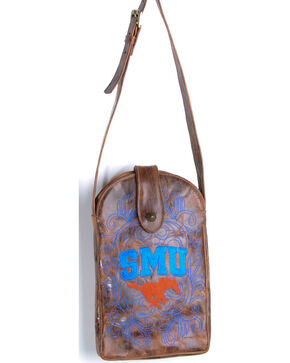 Gameday Boots Southern Methodist University Crossbody Bag, Brass, hi-res