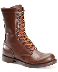 Corcoran Women's Historic Brown Jump Boots - Round Toe, Brown, hi-res