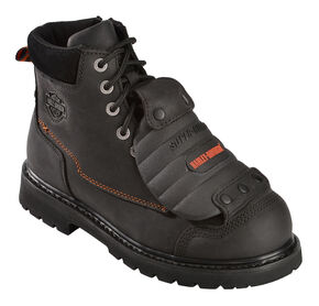 Harley Davidson Men's Jake Boots - Steel Toe, Black, hi-res