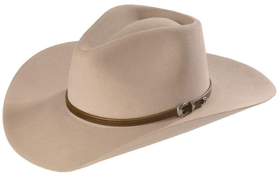 Stetson 4X Buffalo Felt Seneca Pinch Front Western Hat, Silver Sand, hi-res