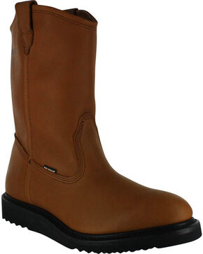 Wolverine Men's Excess DuraShocks® Slip Resistant Wellington Boots, Tan, hi-res