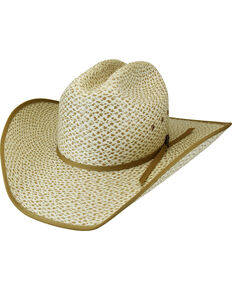 Bailey Men's Chaparral Straw Bound Edge Western Hat, Ivory, hi-res