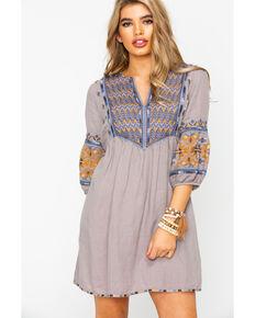 09c75b006d0 Johnny Was Womens Amika Paris Tunic Dress , Grey, hi-res