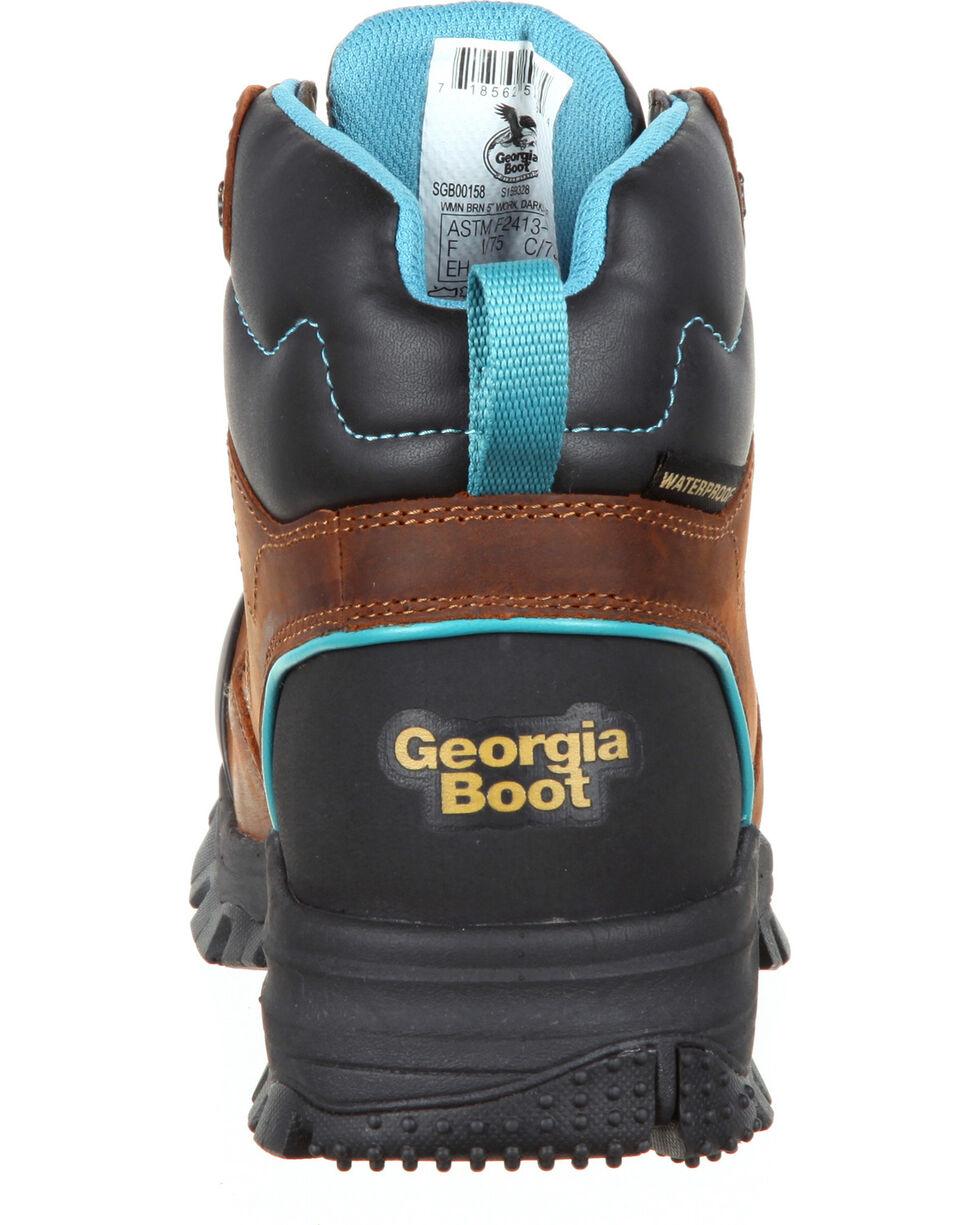 Georgia Women's Blue Collar Water Proof Work Boots - Comp Toe, Brown, hi-res
