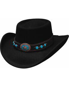 Bullhide Lucky 4 U Gambler Hat, Black, hi-res
