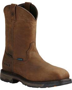 Ariat Men's Brown Workhog Waterproof Work Boots - Composite Toe , Brown, hi-res