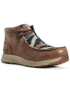 Ariat Men's Spitfire Aztec Print Shoes - Moc Toe, Brown, hi-res