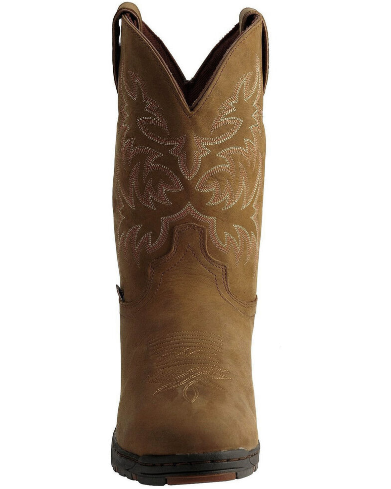 Justin Men's George Strait Unwound Waterproof Cowboy Work Boots - Round Toe, Tan, hi-res