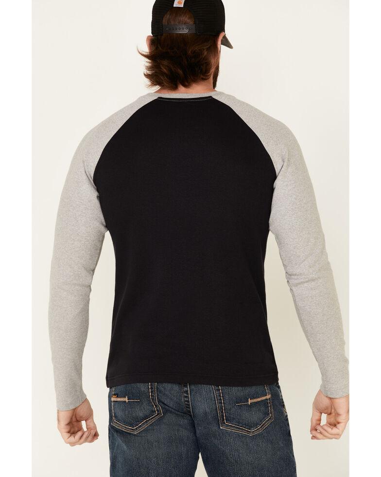 Rock & Roll Denim Men's FR Black Long Sleeve Work Raglan T-Shirt , Black, hi-res