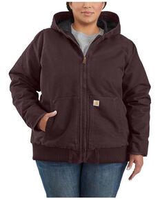 Carhartt Women's Redwood Washed Duck Active Jacket - Plus , Wine, hi-res
