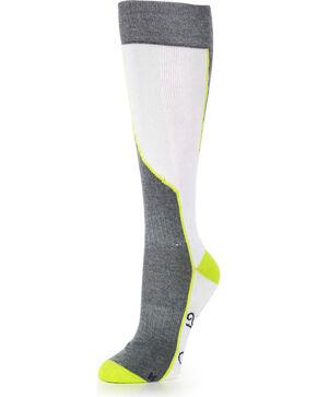 Shyanne Women's Multi Colored Boot Socks , White, hi-res