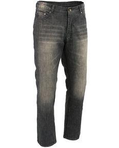 "Milwaukee Leather Men's Black 32"" Denim Jeans Reinforced With Aramid - Big, Black, hi-res"