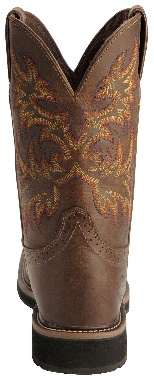 Justin Men's Stampede Driller Electrical Hazard Work Boots - Soft Toe, Tan, hi-res