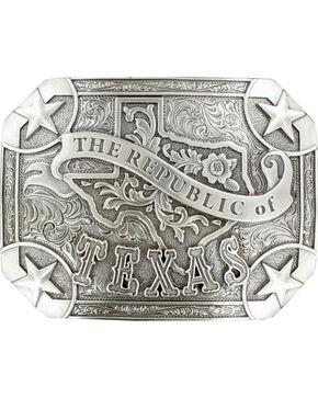 """Nocona """"The Republic of Texas"""" buckle, Silver, hi-res"""