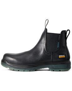 Ariat Men's Turbo Chelsea Waterproof Work Boots - Carbon Toe, Black, hi-res