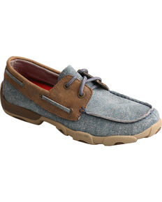 Twisted X Youth Girls' Denim Driving Mocs - Moc Toe, Multi, hi-res