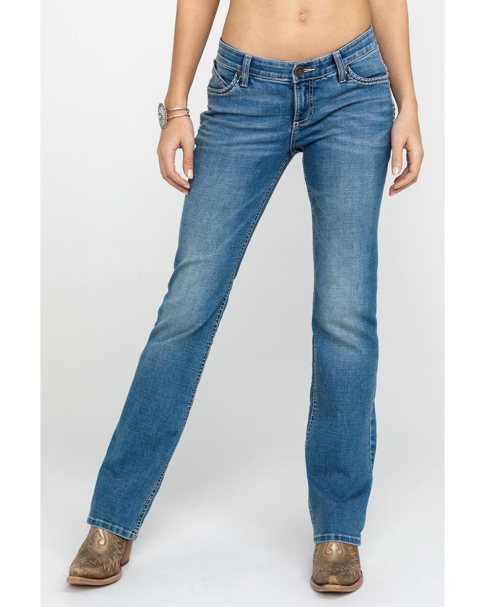 Wrangler Women's Ultimate Riding Shiloh Copper Trim Light Boot Jeans  , Blue, hi-res