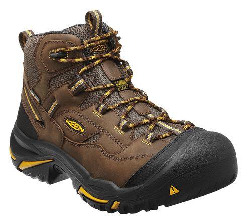 Keen Men's Braddock Mid Waterproof Boots - Steel Toe, Brown, hi-res
