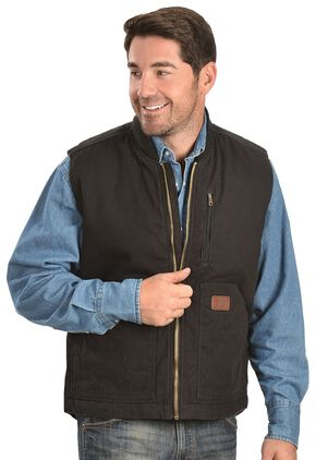 Gibson Trading Co. Men's Quilted Vest, Black, hi-res