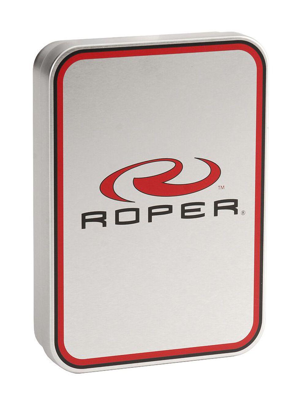 Roper Croc Print Leather Bi-Fold Wallet, Brown, hi-res