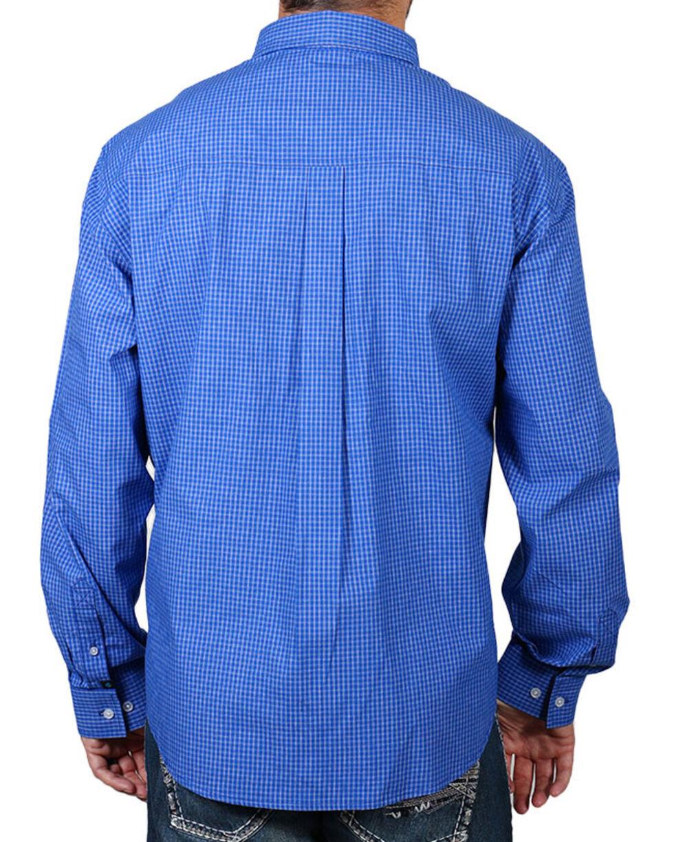 Cody James Men's Checkered Print Long Sleeve Shirt, Royal, hi-res