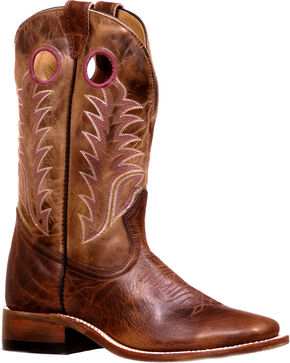 Boulet Women's Challenger Damiana Moka Dublin Taupe Cowgirl Boots - Square Toe, Brown, hi-res