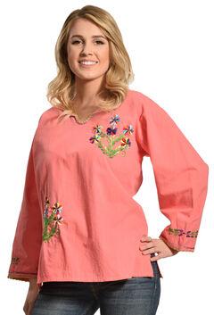 Boho Jane Pink Pansy Top, Pink, hi-res