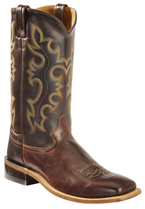 Old West Men's Brown Western Cowboy Boots - Square Toe, Brown, hi-res