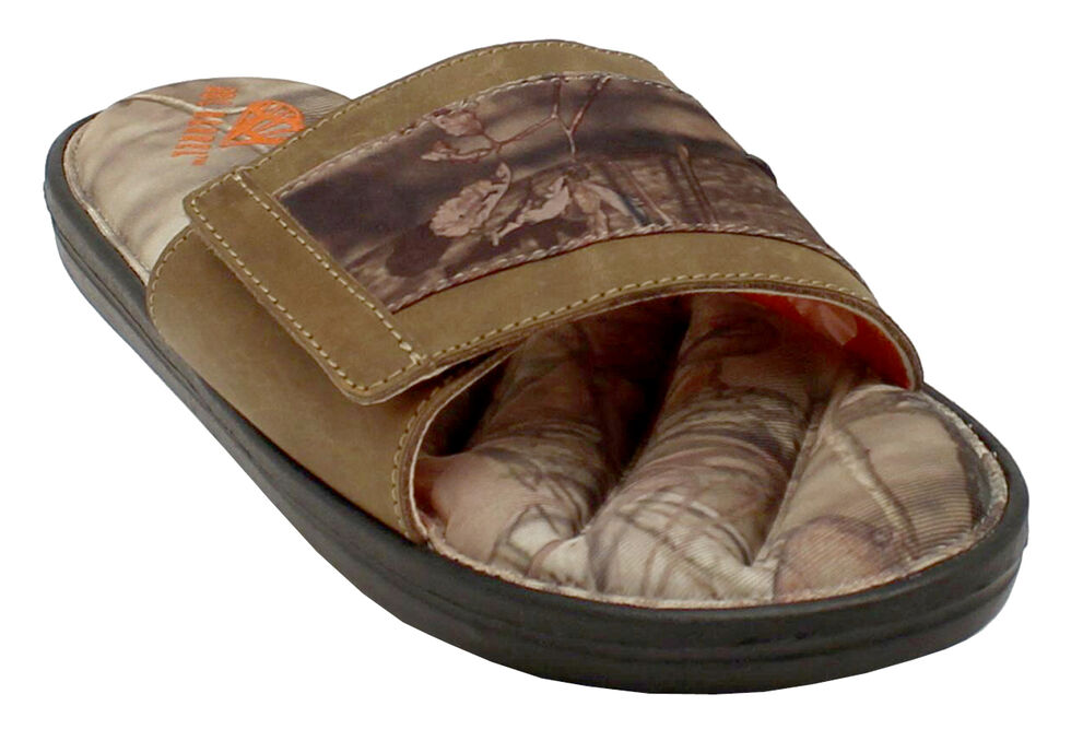 Double Barrel Men's Mossy Oak Slide-On Sandals, , hi-res