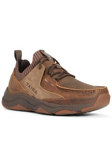 Ariat Men's Country Mile Hiking Shoes - Moc Toe, Brown, hi-res