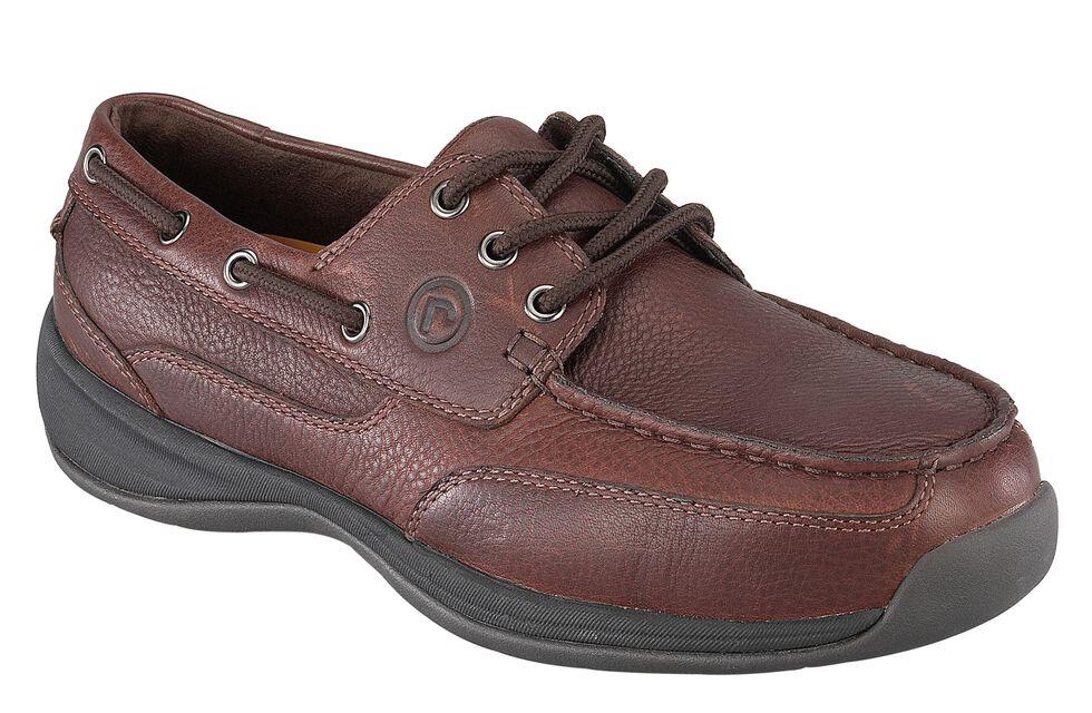 Rockport Works Sailing Club Canoe Oxford Work Shoes - Steel Toe, Brown, hi-res