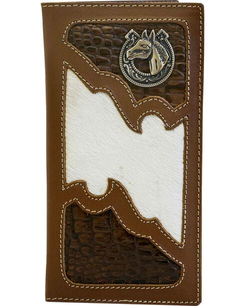 Western Express Men's Brown Rodeo Horse Emblem Wallet , Brown, hi-res