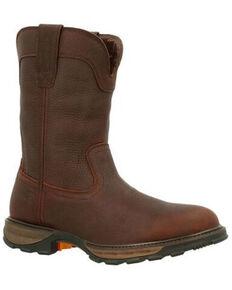 Durango Men's Maverick XP Waterproof Western Work Boots - Soft Toe, Brown, hi-res