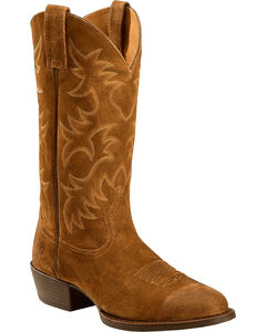 Ariat Heritage Western Cowboy Boots - Medium Toe , Antique Chocolate, hi-res