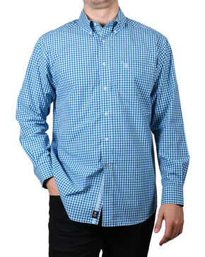 Ariat Men's Blue Mankins Long Sleeve Performance Shirt , Blue, hi-res