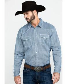 Wrangler 20X Men's Advanced Comfort White Geo Long Sleeve Western Shirt , White, hi-res