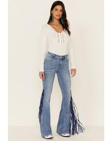 Idyllwind Women's Americana Fringe Super Star Jeans, Medium Blue, hi-res